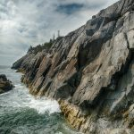 Coastal cliffs, Deep Cove on Cliff Trail, Western Head, Isle au Haut, Acadia NP, Maine
