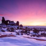 Turret Arch, Arches NP, UT, winter