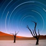 Star trails, Sossuvlei, Namibia